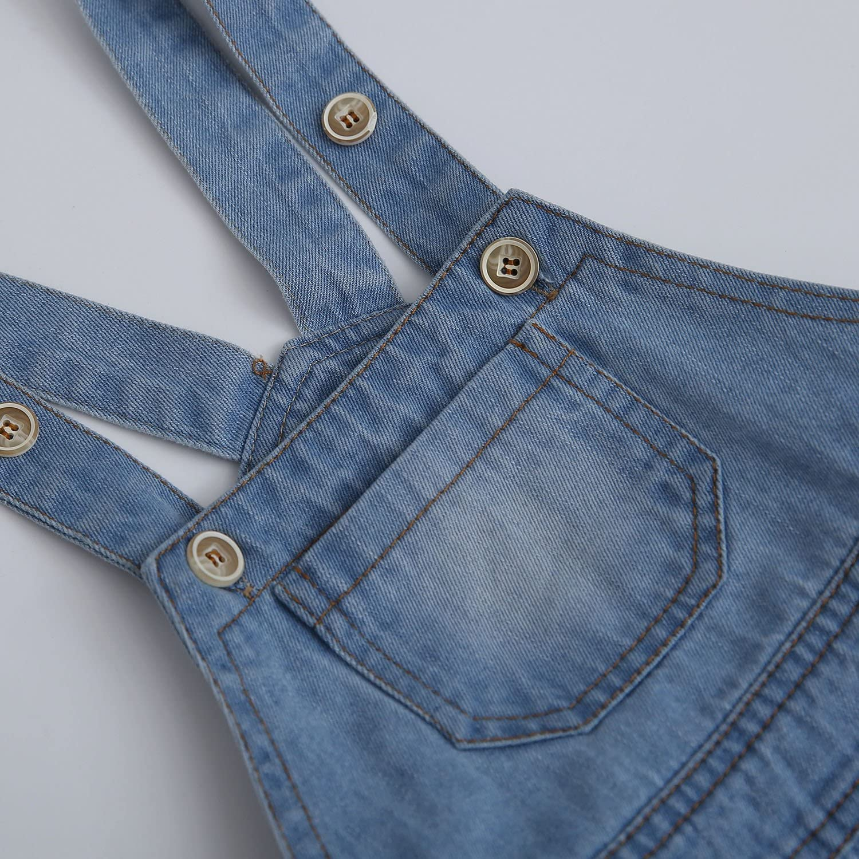 Kidscool Baby /& Toddler Girls//Boys Big Bibs Ripped Summer Jeans Shortalls