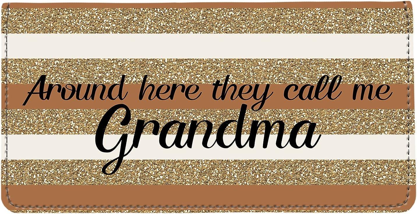 Snaptotes Grandma Love Caramel Gold Around Here They Call Me Grandma Checkbook Cover