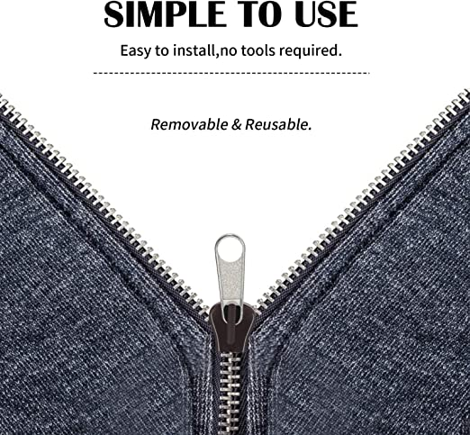 Wmaple 6pcs Universal Instant Fix Cremallera Kit de reparaci/ón de Ropa de reemplazo Mochila con Cremallera Cremalleras Deslizante Dientes
