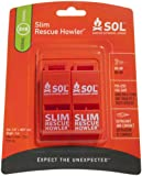 SOL Slim Rescue Howler Whistle (2-Count)