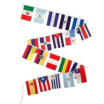 Amazon.com: Banderas de España para el aula – 18 países ...