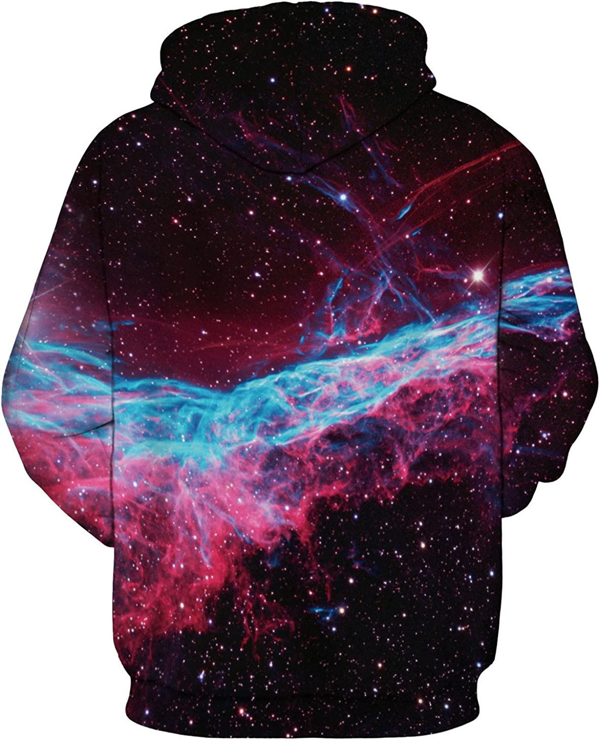 Mens Long Sleeve 3D Digital Print Cartoon Patchwork Lovers Design Sports Pullover Hoodies