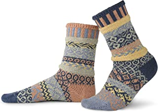 product image for Solmate Socks - Mismatched Crew Socks; Made in USA; Mirage Large