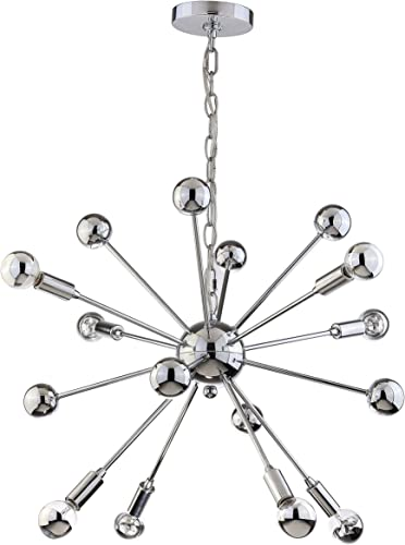 22.5 Metal Sputnik-Style LED Chandelier, Chrome, Modern, 8 Lights Bulbs