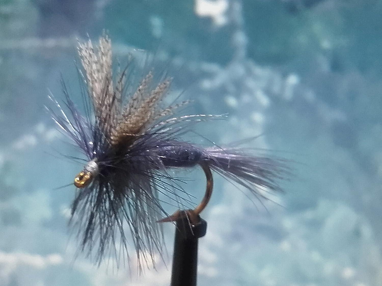 Trockenfliegen ' Dark Hendrickson ' 3er Set, Hakengröße 14