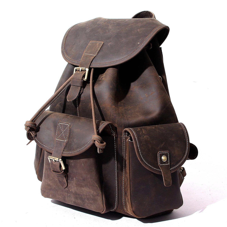 b73e4ecb7c80 Amazon.com  Leather Backpack