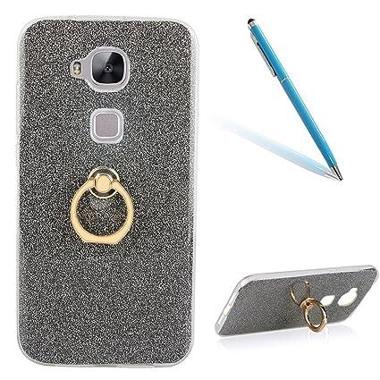 CLTPY Huawei G8 Funda, Lujo Purpurina Huawei G8 Carcasa Cristal Silicona Suave Caso + Papel Brillante [Ultra Híbrido] Caja Protectora para 5.5