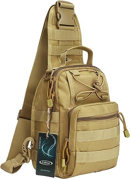 QD Buckle Molle Tactical Rucksack Messenger Sling Shoulder Bag Backpack