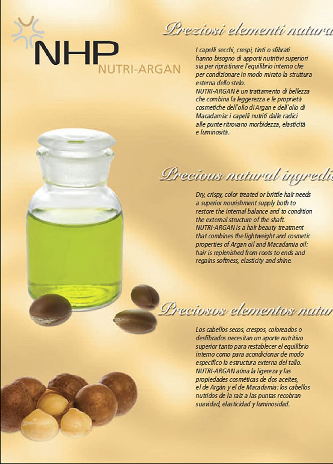 Amazon.com: NHP Nutri Argan Beautifying Elixir (Treatment Oil Hair Oil)  with Argan Oil and Macadamia Oil (100ml / 3.38FlOz) Hair Serum: Beauty