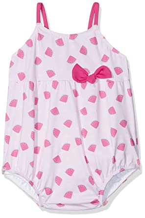 df79a3166c08 Archimède Graphic, One Piece Baby Girl's Swimsuit, Pink (Rose), 2 Years
