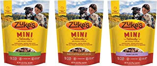 product image for Zuke's Natural Training Dog Treats; Mini Naturals Recipe Variety Bundle (6oz Each) 3 Pack - Duck, Rabbit and Peanut Butter