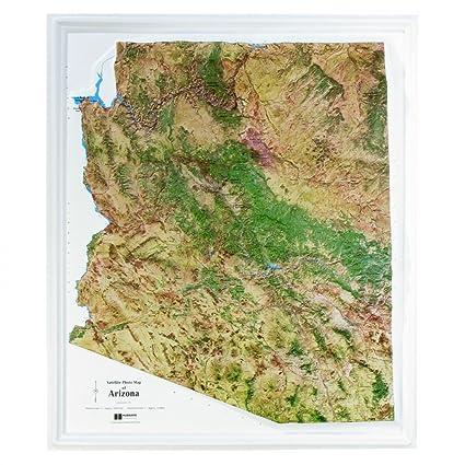 American Education Raised Relief Map Arizona Satellite Map