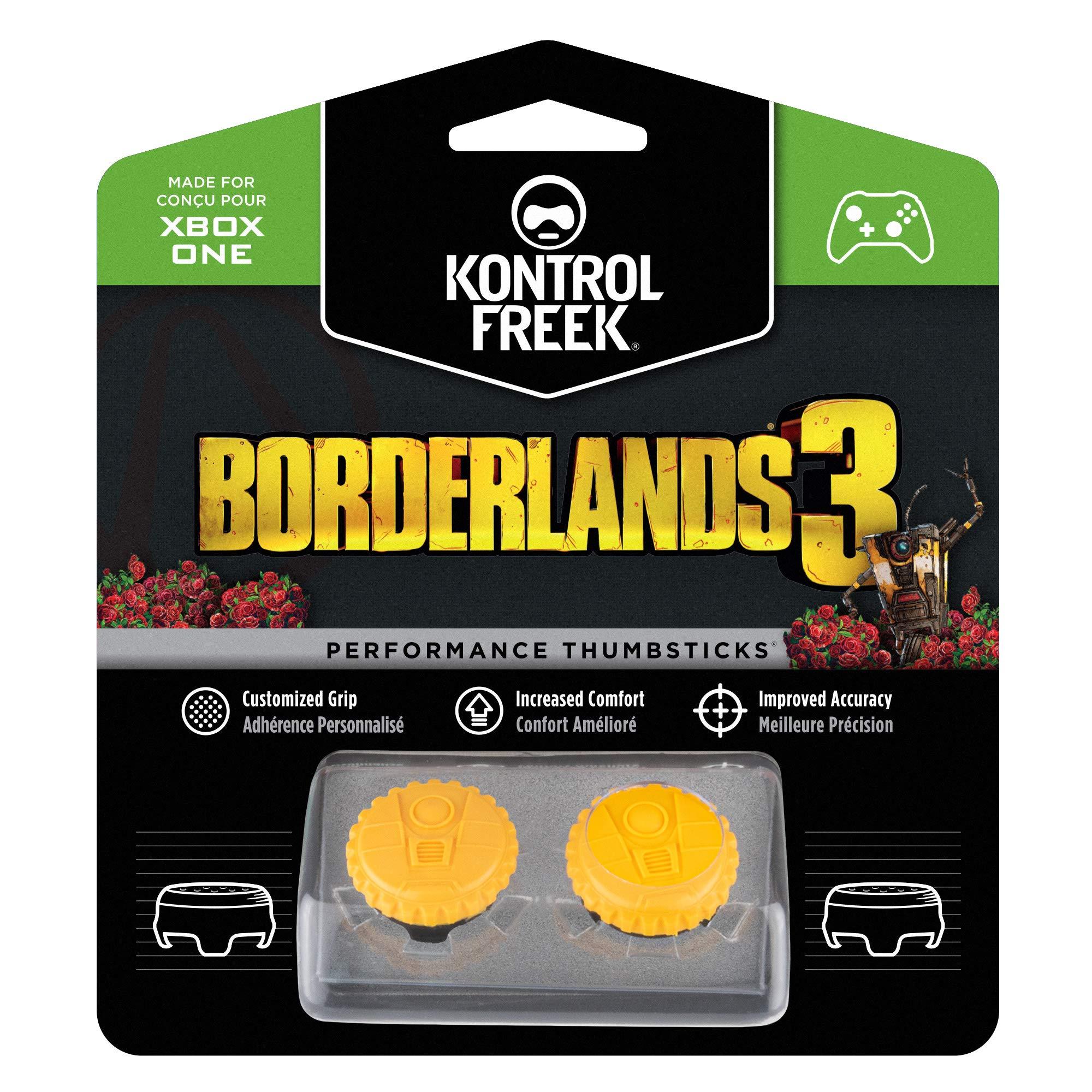 KontrolFreek Borderlands® 3 Claptrap Performance Thumbsticks for Xbox One | 2 Mid-Rise Convex Thumbsticks | Yellow by KontrolFreek