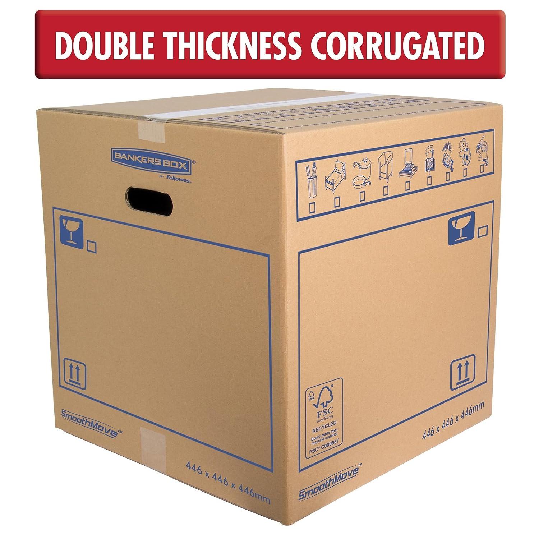 Bankers Box 6207401 - Caja de transporte y mudanza, grande: Amazon.es: Oficina y papelería