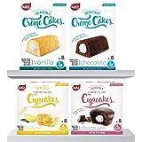 Katz Gluten Free Snacks Heavenly Creme Cake Variety Pack | Chocolate & Vanilla Creme Cake, Chocolate & Lemon Cupcake…