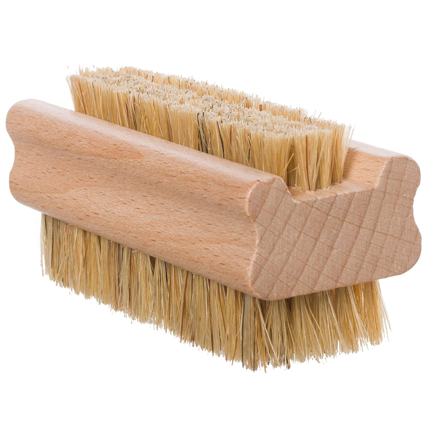 Redecker Natural Pig Bristle Nail Brush with Untreated Beechwood Handle, 3-3/4-Inches : Beauty