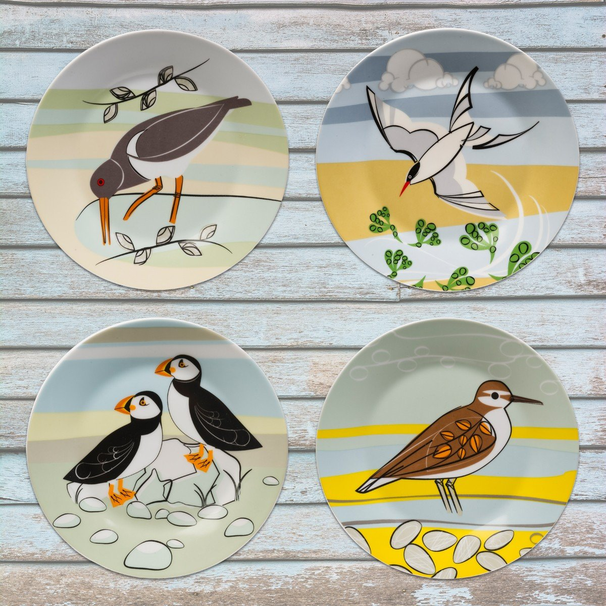 Magpie Coast Dessert Plates - Set of 4 in gift box