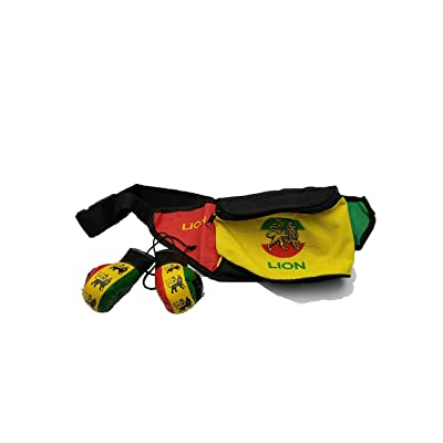3Pcs Lion Of Judah Rasta Fanny Pack Waist Purse Money Bag pouch / Boxing Glove mini banner