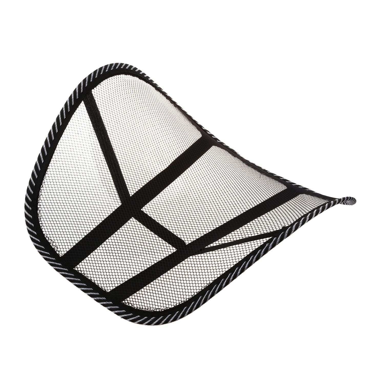 Lumbar Back Brace Chair Cushion - SODIAL(R) Mesh Lumbar Back Brace Support Chair Cushion Seat Waist Pillow Posture Corrector 058947