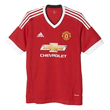 Adidas MUFC H AZ JSY - Camiseta para Hombre, Color Rojo/Blanco: Amazon.es: Zapatos y complementos