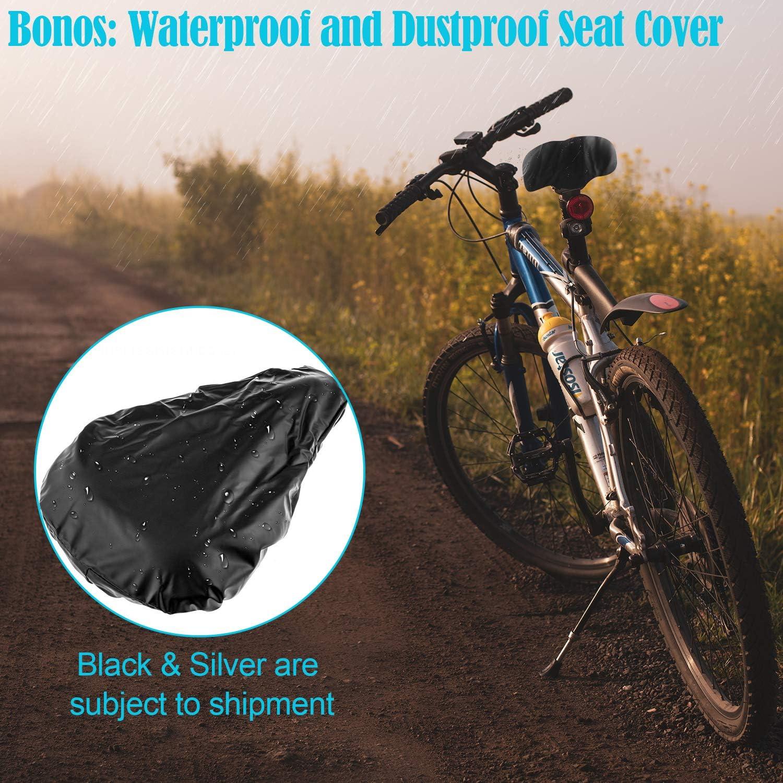 Cevapro - Funda para sillín de bicicleta, de silicona suave ...