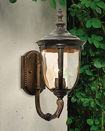 Bellagio Bronze Outdoor Wall Light Vintage Curved Arm Sconce Fixture For Exterior House Patio Porch   John Timberland by John Timberland