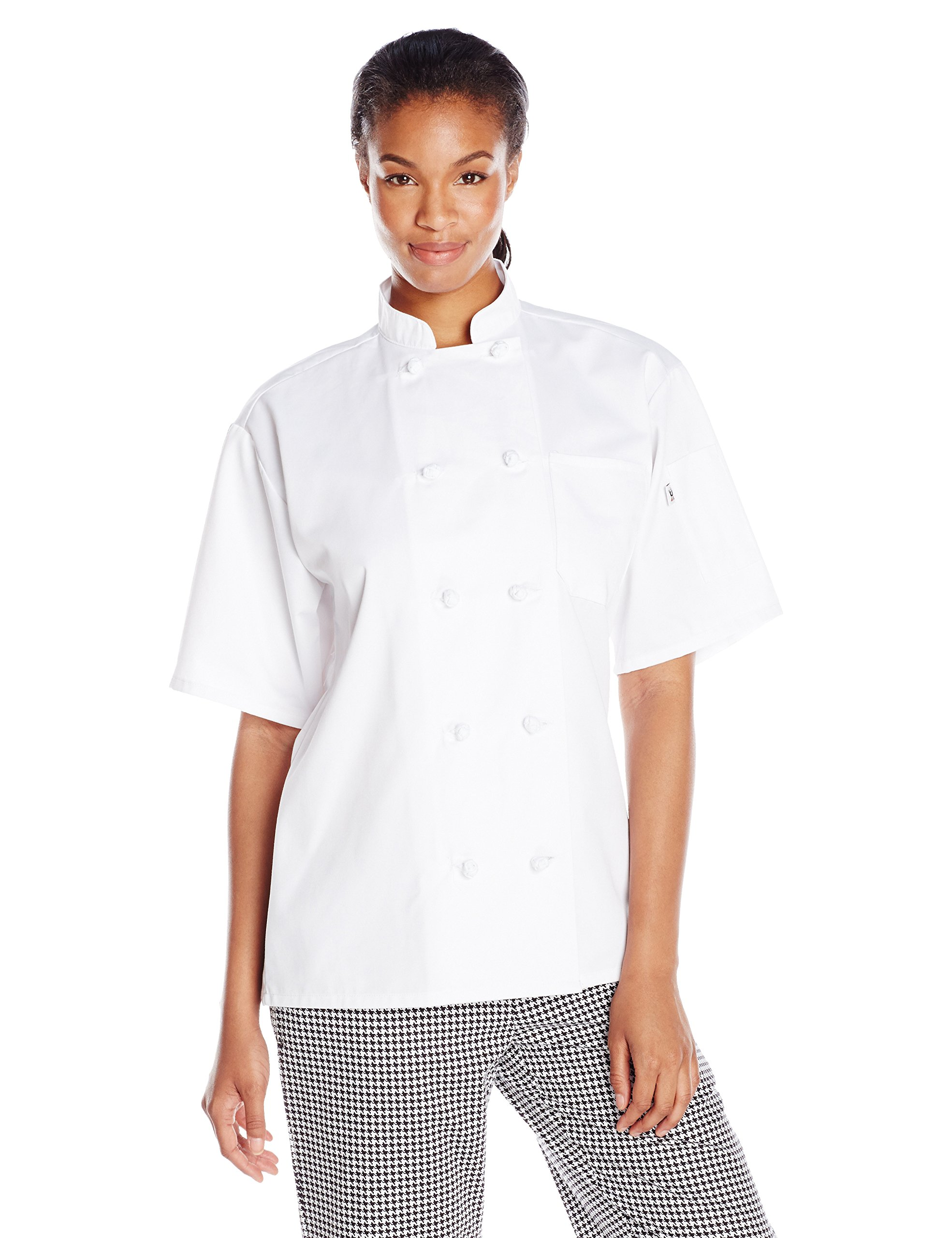 Uncommon Threads Unisex Monterey Chef Coat, White, Medium by Uncommon Threads