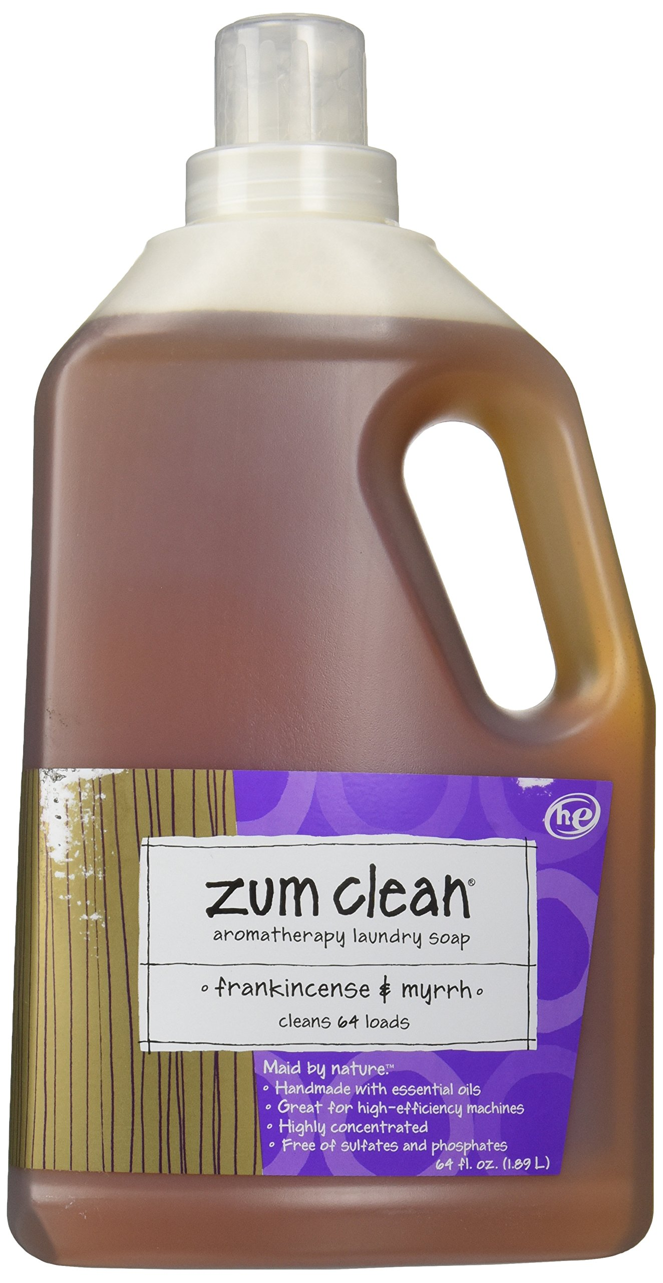 Indigo Wild Zum Clean Laundry Soap Frankincense Myrrh,64 fl oz by ZUM