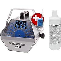 Showlite BM-60 maquina de pompas, Set incl. liquido