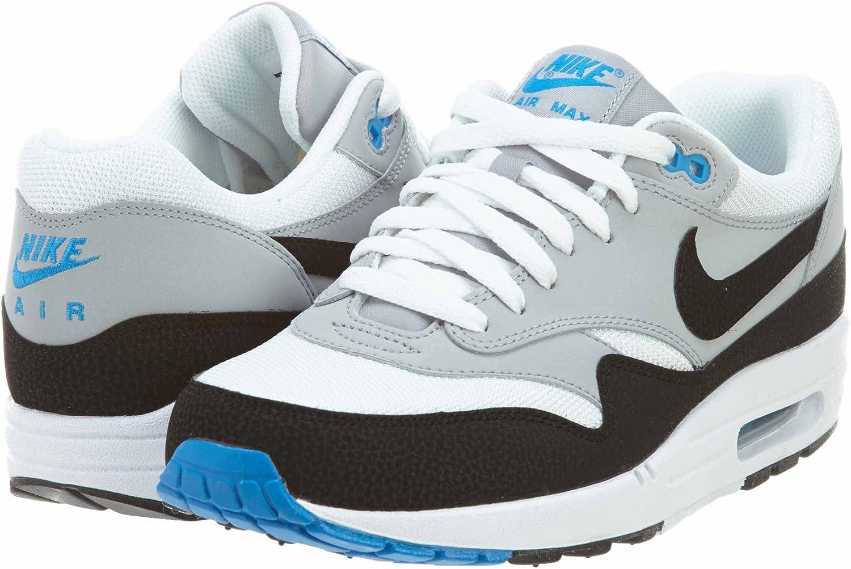 Amazon Com Nike Mens Air Max 1 Essential White Grey Blue 537383