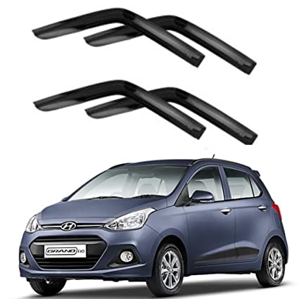 DEALS KING premium DOOR VISOR SUN VISOR WIND DEFLECTOR FOR HYUNDAI I10  GRAND  Amazon.in  Car   Motorbike 703ddedf79a
