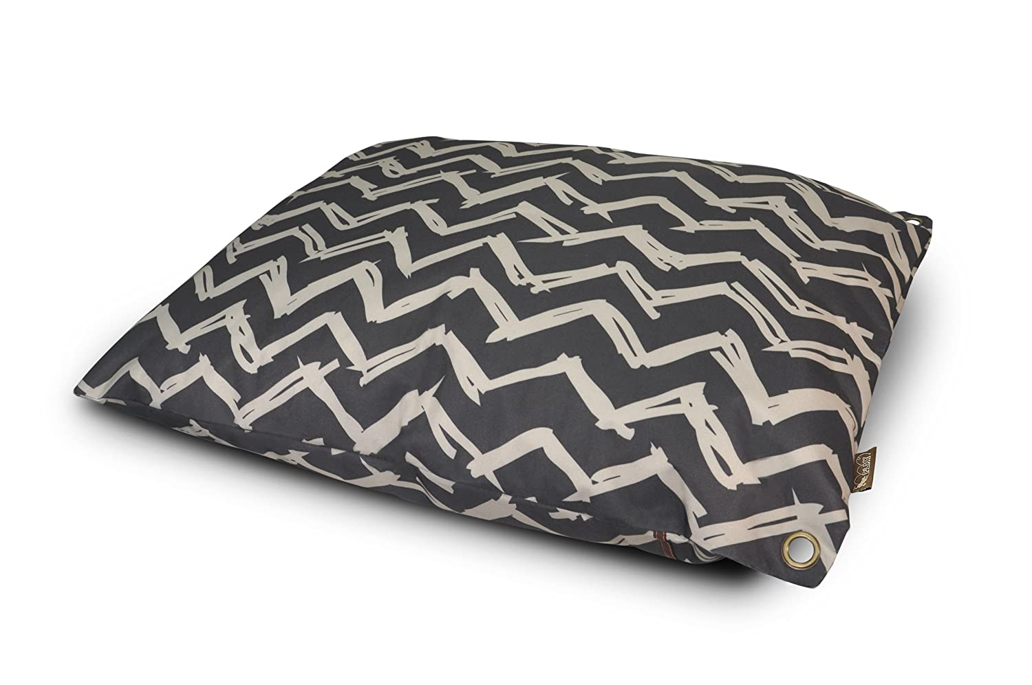 Black Small Black Small Pet Lifestyle and You Chevron Outdoor Bed, Small, Black