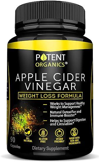 Amazon Com 100 Organic Apple Cider Vinegar 90 Capsules For