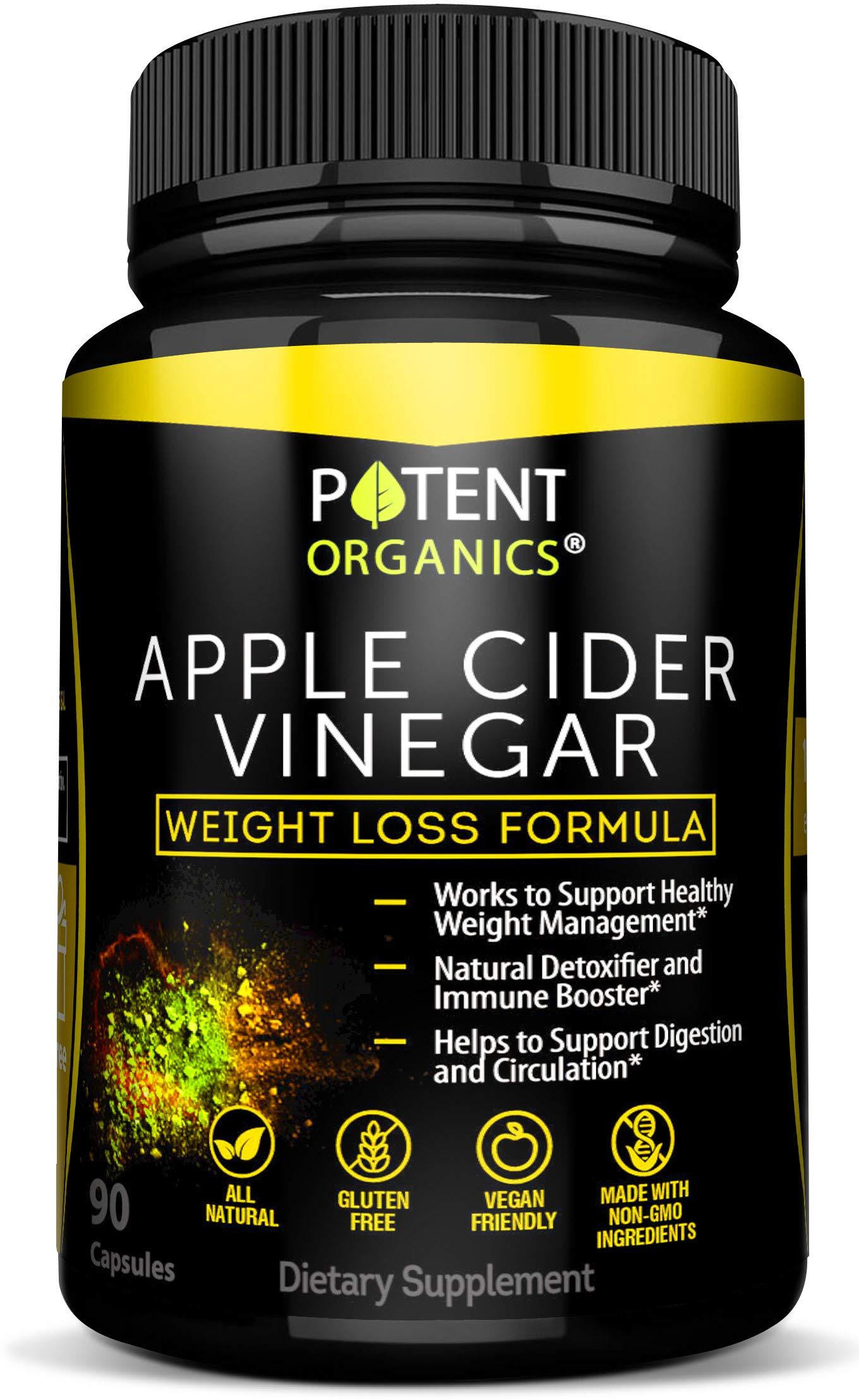 100 Organic Apple Cider Vinegar 90 Capsules For Healthy Diet Weight Loss Pure Raw Vegan And Non Gmo Helps Digestion Made In Usa Add To
