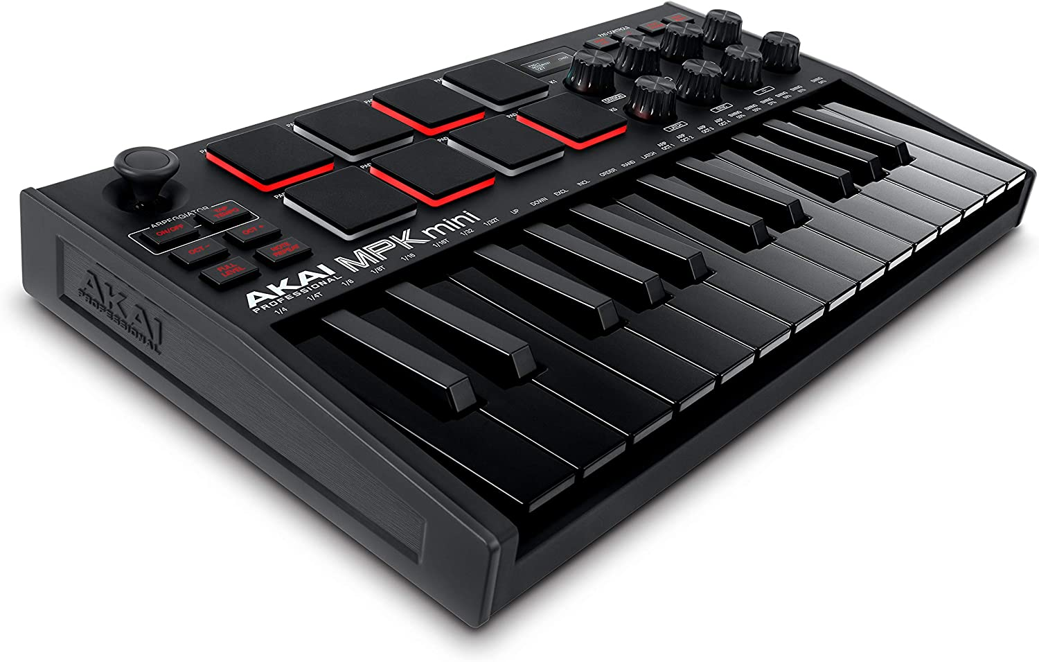 Amazon.com: AKAI Professional MPK Mini MK3 - 25 Key USB MIDI Keyboard  Controller With 8 Backlit Drum Pads, 8 Knobs and Music Production Software  Included (Black): Musical Instruments