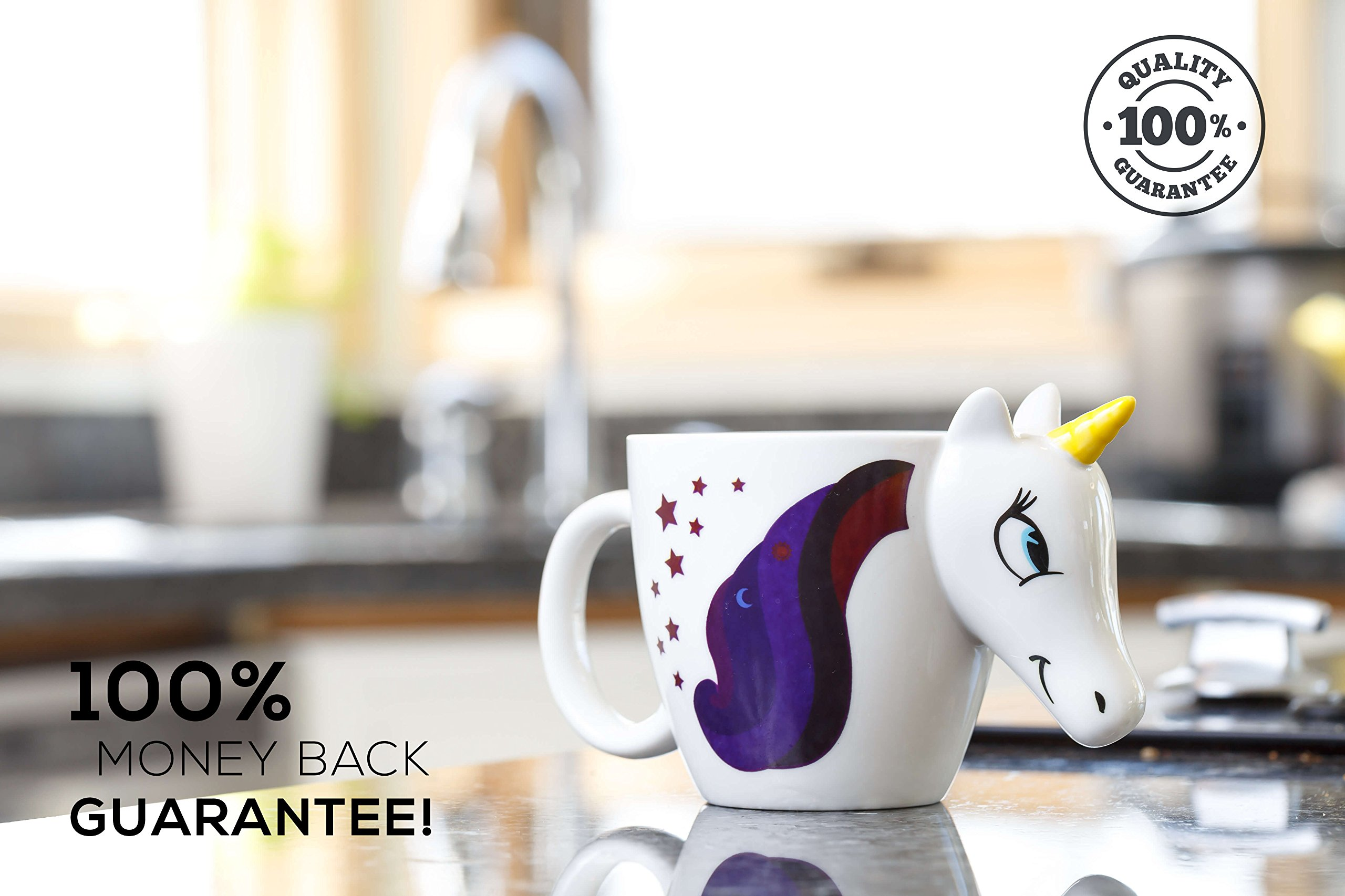 Color Changing Unicorn Mug - 3D Coffee Mugs Rainbow Design, Your morning cup of coffee or tea will never be the same… 8