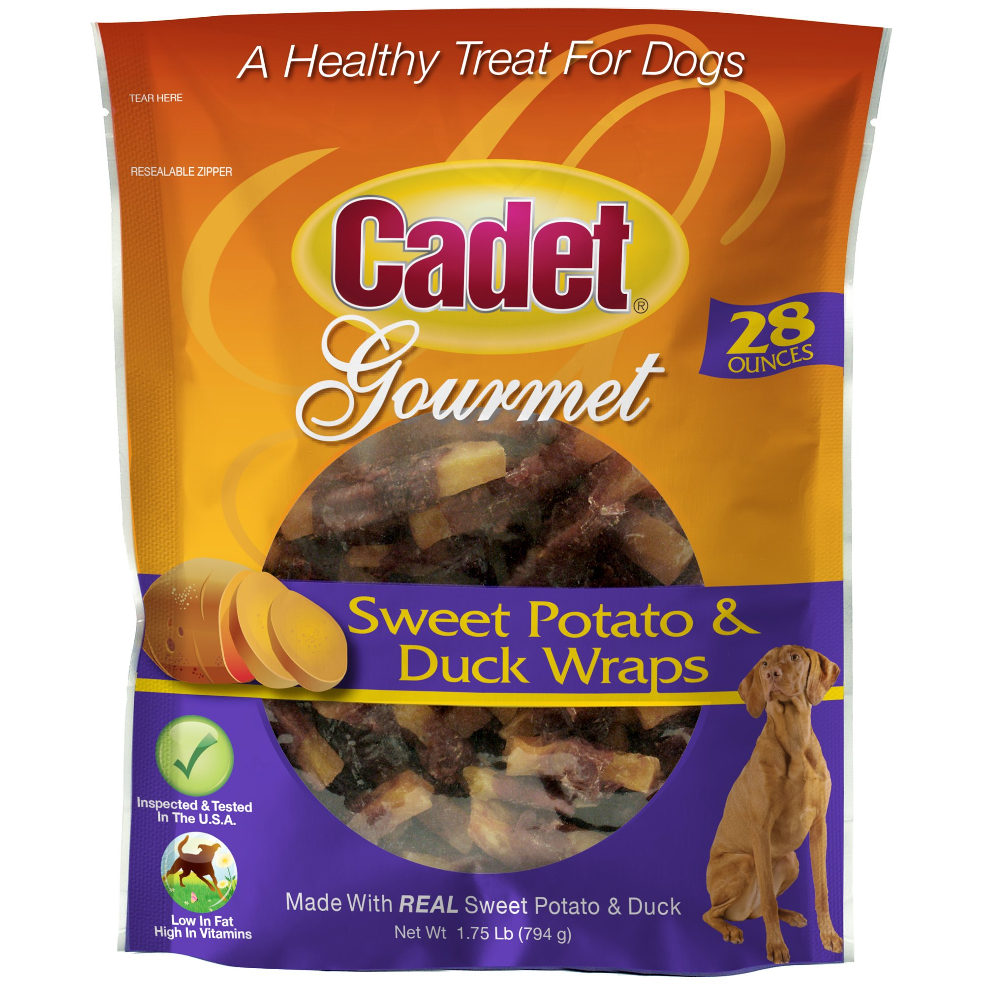 Cadet Duck and Sweet Potato Dog Treat Wraps, 28 oz.