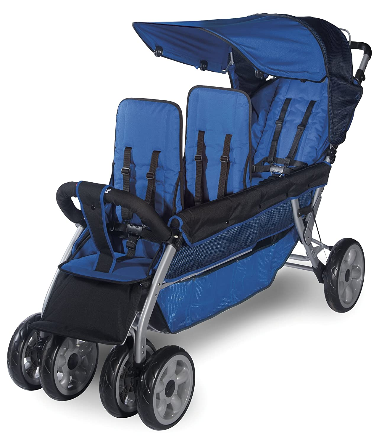 Amazon Foundations Worldwide Foundations Re te Blue 3 Passenger Stroller LX3 Tandem Strollers Baby