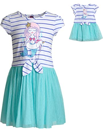 e1c49a6ee1f8 Dollie & Me Mermaid Dress Set with Matching Outfit-Girl & 18 Inch Doll  Clothes