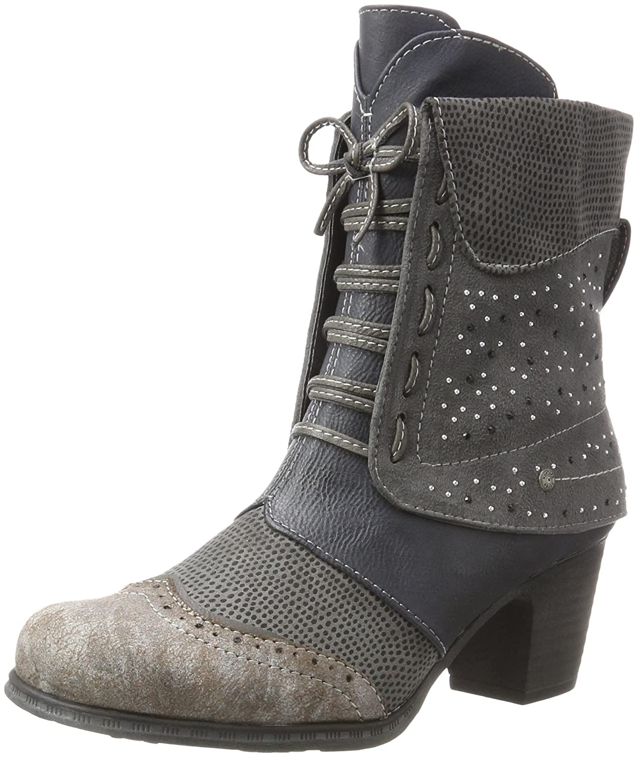 Mustang 1258-502-869, Mustang Bottes Femme Multicolore Grau) (Navy/ Femme Grau) 5cf06e7 - conorscully.space