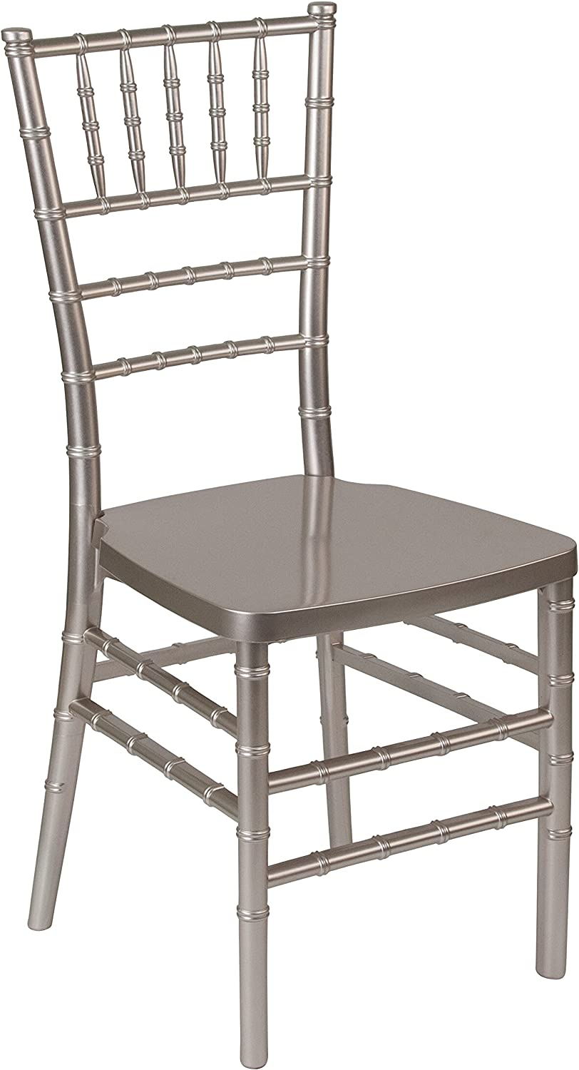 Flash Furniture HERCULES PREMIUM Series Pewter Resin Stacking Chiavari Chair