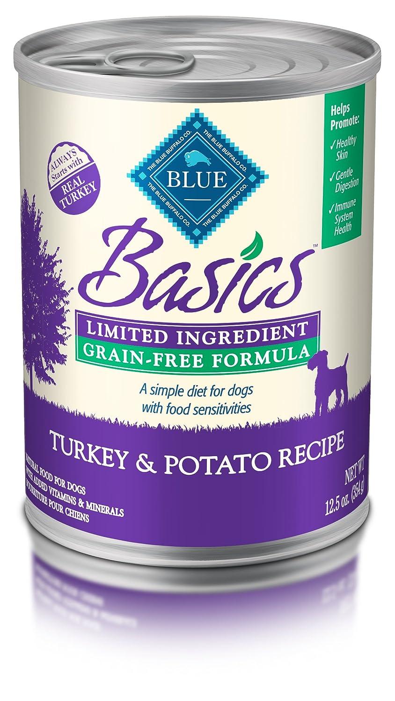 bluee Basics Limited Ingredient Diet Adult Grain Free Turkey & Potato Wet Dog Food 12.5-Oz (Pack of 12)