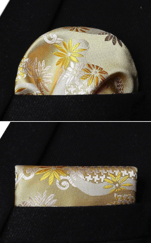 HISDERN Paisley Floral Party Self Bow Tie Fazzoletto da uomo Self bow tie /& Pocket Square Set