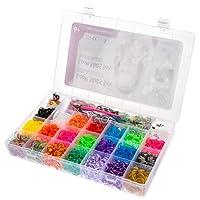 Ultrakidz Loom Kit de démarrage – assortiment de 5400 bandes élastiques aux couleurs de l'arc-en-ciel avec pendentifs et aiguilles à crochets