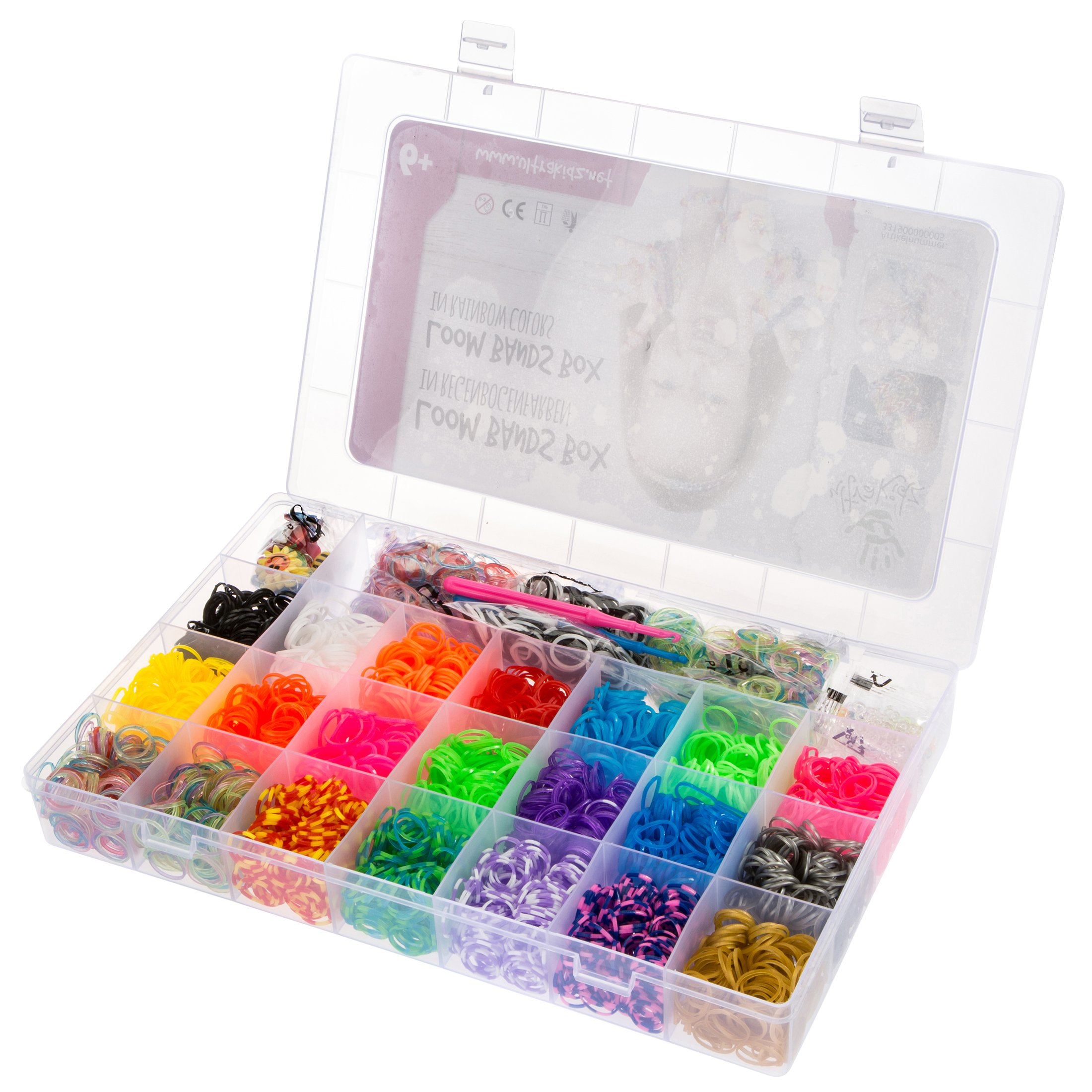 Ultrakidz Loom Kit de démarrage – assortiment de 5400 bandes élastiques aux couleurs de l'arc-en-ciel avec pendentifs et aiguilles à crochets product image