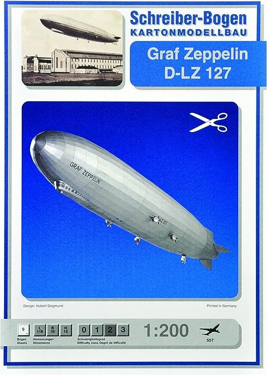 Schreiber-Bogen Card Modelling Airship Hindenburg D-LZ 129