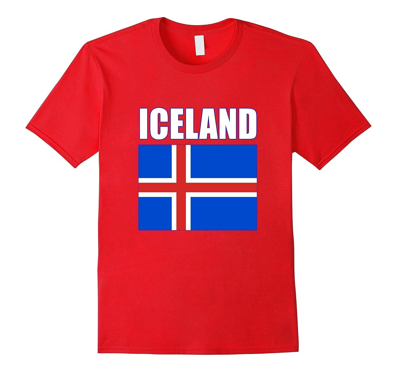 Iceland Football Soccer 2016 Icelandic Team T-shirt-BN