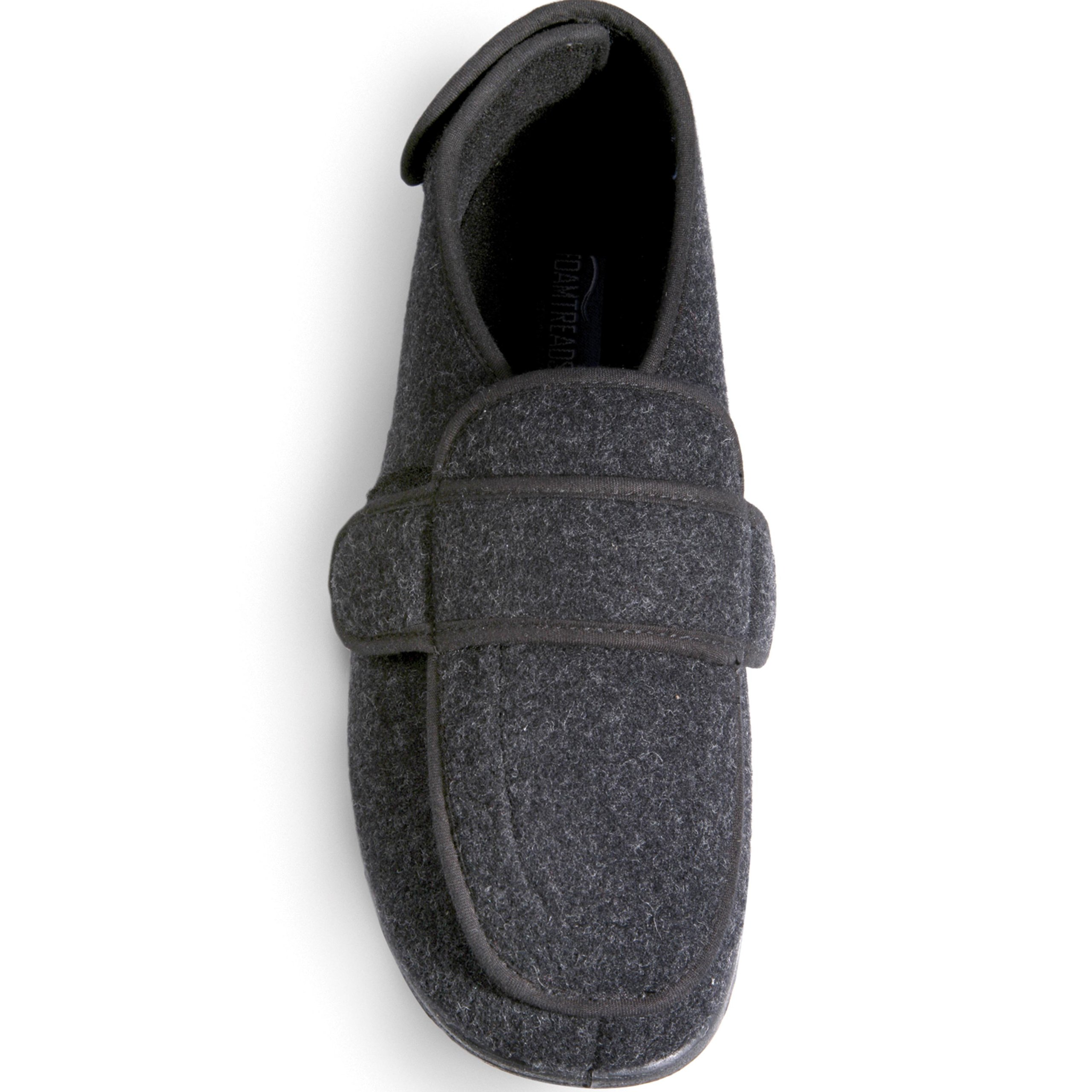 Foamtreads Men's Extra-Depth Wool Slippers,Charcoal,8.5 M US