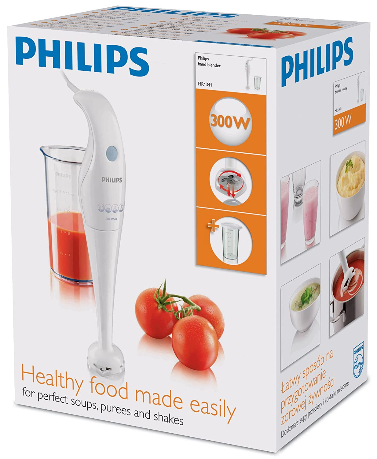 Amazon.com: philips- diario colección hr1341/00 batidora de ...