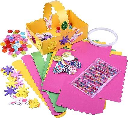 Kids Art 25 piece  Easter Egg Foam Stickers for Childrens Craft /& Bonnets